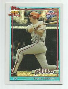 2004 TOPPS ALL-TIME FAN FAVORITES DALE MURPHY CHROME REFRACTOR #166/299