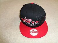 NWT New ERA 9Fifty NBA Chicago Bulls Stitched Adjustable Snap Back Hat Cap