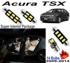14pcs Super Car LED 6000K Interior Light Kit Package For Acura TSX 2009-2014