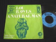 "LOU RAWLS/A NATURAL MAN/DISC JOCKEY 12/SOUL FUNK/FRENCH 7"" SP"