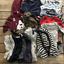 0-3 month baby boy clothes lot 17 Pieces - Fall - Winter