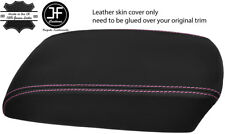 PINK STITCH TOP GRAIN LEATHER ARMREST COVER FITS MAZDA CX5 CX-5 2012-2015