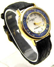"""LA EXPRESS 9.25"""" Watch Faceted Crystal White Shell & Loose Stones Analog WORKS"""