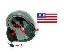 Helmet Speaker microphone Fits ICOM T70A, V8, V80, V82