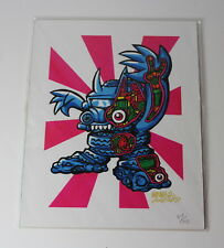 Gargamel Smogun Kaiju Toy Art Numbered Print
