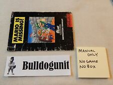 Mario is Missing! Manual Only Super Nintendo SNES NO GAME