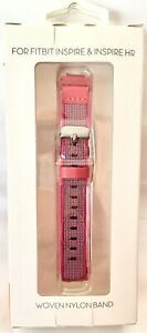 WITHit Woven Nylon Band For Fitbit Inspire & Inspire HR  Pink - NEW IN BOX