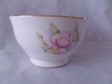 Lindrick Pottery Bone China Sugar Bowl Satsuma Pink/Yellow Flowers & Gilt Edge