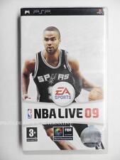 jeu NBA LIVE 09 sur sony PSP game spiel juego sport tony parker basket 2009 fiba
