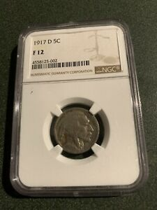1917 d buffalo nickel NGC  F 12