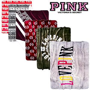 "Victoria's Secret PINK FAUX FUR SHERPA BLANKET *1 60"" 72"" + Bonus! 🌈 LOVE PINK"