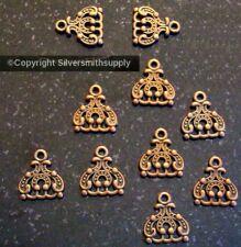 Copper plt DECO design jewelry base 3 dangle -3 to 1 bars fpe153