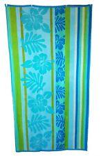 floral Aqua citron vert SERVIETTE DE PLAGE Jumbo rayé grand drap bain 100% coton