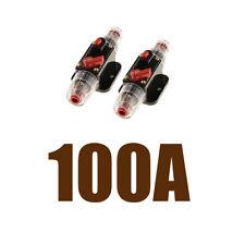 2xCar Truck Boat Audio 100A Amplifier Circuit Breaker Fuse Holder 12 Volt