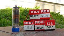 All American Five-NOS RCA Tube Set 12AV6, 12BA6, 12BE6, 35W4, 50C5-Free Shipping