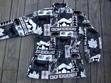 Vtg Black Mountain Outdoor Animal Nature Zip Fleece Jacket Size Medium
