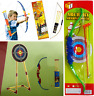 Kids Bow & Arrow Archery Play Set With Arrows Outdoor Childrens Cowboy Toy Game