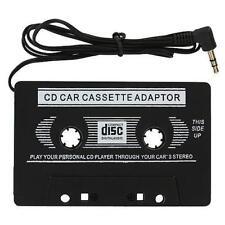 Coche Adaptador de cinta de casete negro 3.5 mm Jack para MP3 IPOD IPHONE CD estéreo
