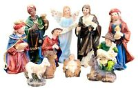 Christmas Nativity Set Scene Figures  Baby Jesus 11 Piece Set Nacimiento