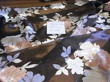 "Ladies Scarf Striped Semi Sheer Floral 13 1/2 x 59 1/4"" Lot ""Sssf"" Brown Peach"