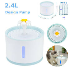 2.4L Automatic USB LED Electric Pet Water Fountain Cat/Dog Drinking Dispenser UK
