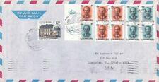 1989 Luxembourg #776,#810a,#811a,#811b booklet panes on cover to US *d