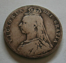 U.K-Victoria Silver Half Crown Jubilee Head 1889-K.M #764