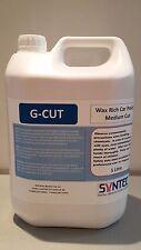 Syntec G-cut wax rich restorative car polish, medium cut, 5 litres.