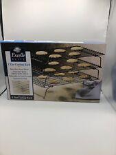Wilton Excelle Elite 3-Tier Cooling Rack Gourmet Baking Cookie Cake Display Food