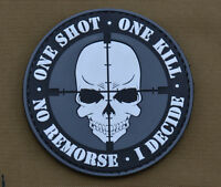 "PVC / Rubber Patch ""One Shot One Kill"" with VELCRO® brand hook"