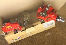 Retro Kult Vintage NOS NEW NIB Look SL 3 red MTB ATB pedals pedalset w. cleats