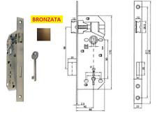Serratura D 90 bordo quadro per porte interne bronzata entrata 40 45 50