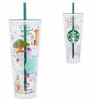 Disney World 2021 Starbucks Venti Park Icons 24 oz Acrylic Cold Tumbler Cup NEW