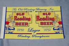 REPLICA VINTAGE BEER CAN LABELS READING BREWERY OLD READING BEER