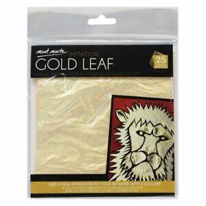 Mont Marte Imitation Gold Leaf 14 x 14cm 25 Sheet
