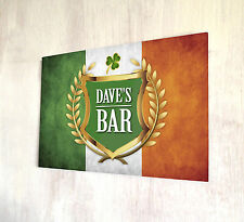 Personalised any name Irish Flag Shamrock Beer Label A4 sign