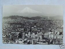 RPPC MT. HOOD FROM PORTLAND OREGON! REAL EKKP PHOTO ORE. OR. UNUSED B&W POSTCARD