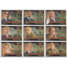 Marvel Iron Man Movie Casting Call Chase Card Set CC1 - CC9 (9 Card Set)