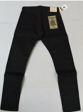 Momotaro Mens 15.7oz High Tapered Fit Selvedge Jeans Black 0405-B Size 33x35