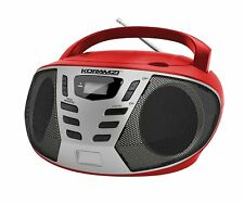 Portable CD Boombox with AM/FM Radio, Top Loading CD Player KORAMZI CD55-RDS