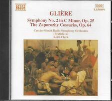CD album: Gliére: Symphony N°2 in C Minor, Op. 25. Keith Clark. naxos. M