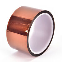 50mm 5cm x 30M Kapton Tape Sticky High Temperature Heat Resistant Polyimide TOCA