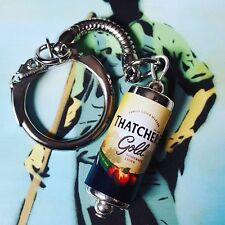Unique  THATCHERS GOLD CAN KEYRING fab CIDER keychain APPLES west country PUB