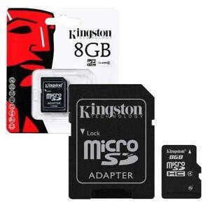 Carte Memoire Micro SD 8 Giga -  Kingston - Class 4 - 100 % Original