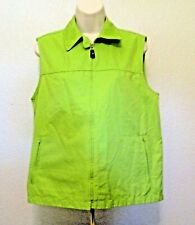 Liz Claiborne Golf Vest LizGolf M Green Zipper Pockets Sleeveless Clearance