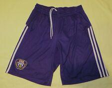 """RSC Anderlecht BEL / 2008-2009 Home - ADIDAS - MENS football Shorts. Size: 34"""" M"""