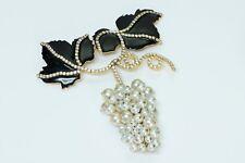 "Vintage Valentino XL Enamel Pearl ""Grape"" Brooch"