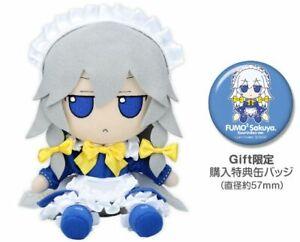 Touhou Plush Doll Series 29 Fumo Fumo Sakuya Kourindou Ver. w/Button Badge F/S