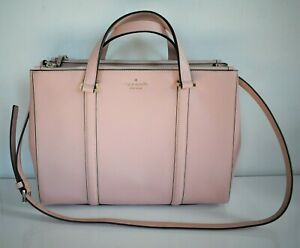 $398 NEW Auth KATE SPADE *NEWBURY LANE LODEN* Pink Large SATCHEL Shoulder Bag