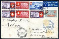 SWITZERLAND, Air Mail Cover 1939, VF
